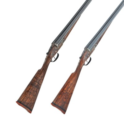 A FINE PAIR OF 16-BORE SIDELOC