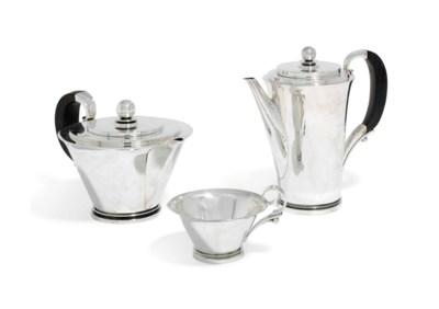A THREE-PIECE DANISH TEA AND C