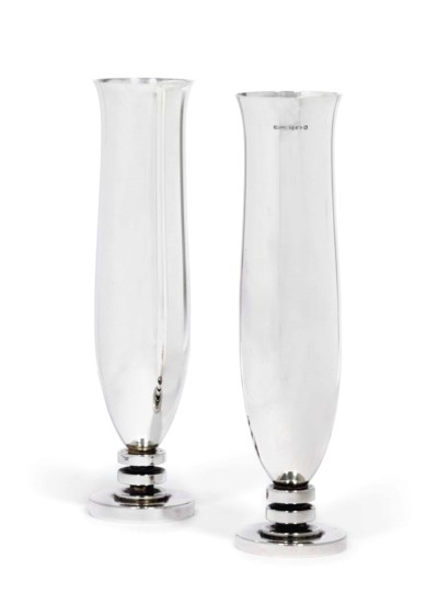 TWO DANISH VASES DESIGNED BY H