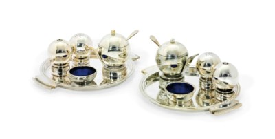 A PAIR OF DANISH CONDIMENT-SET