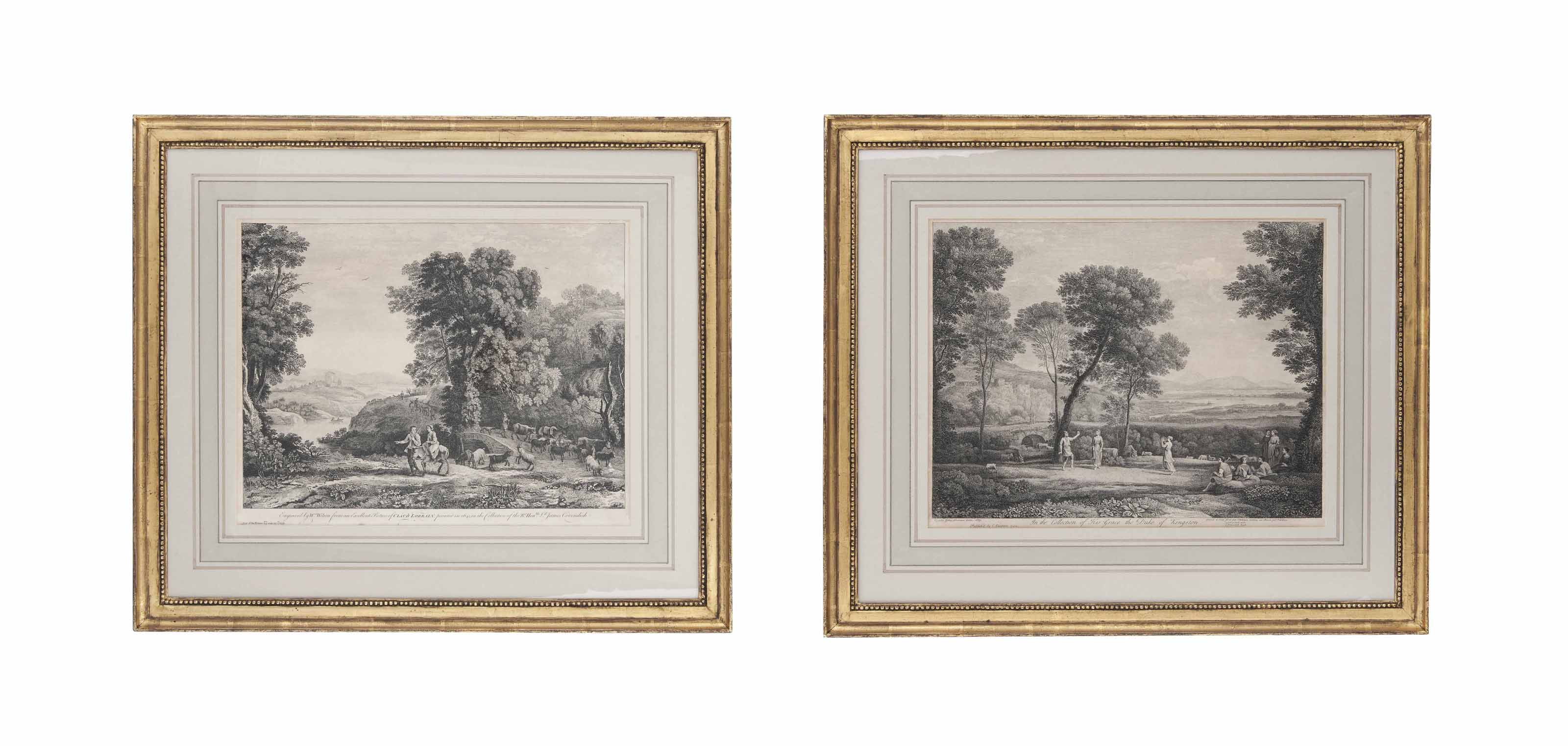 A GROUP OF FOUR ENGLISH ENGRAVINGS  OF LANDSCAPES