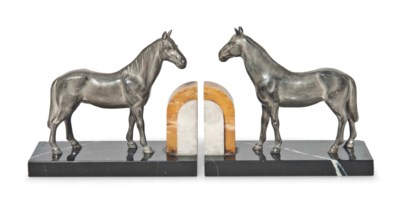 A PAIR OF COLD-PAINTED SPELTER