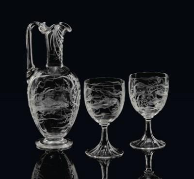 A STOURBRIDGE ENGRAVED GLASS C