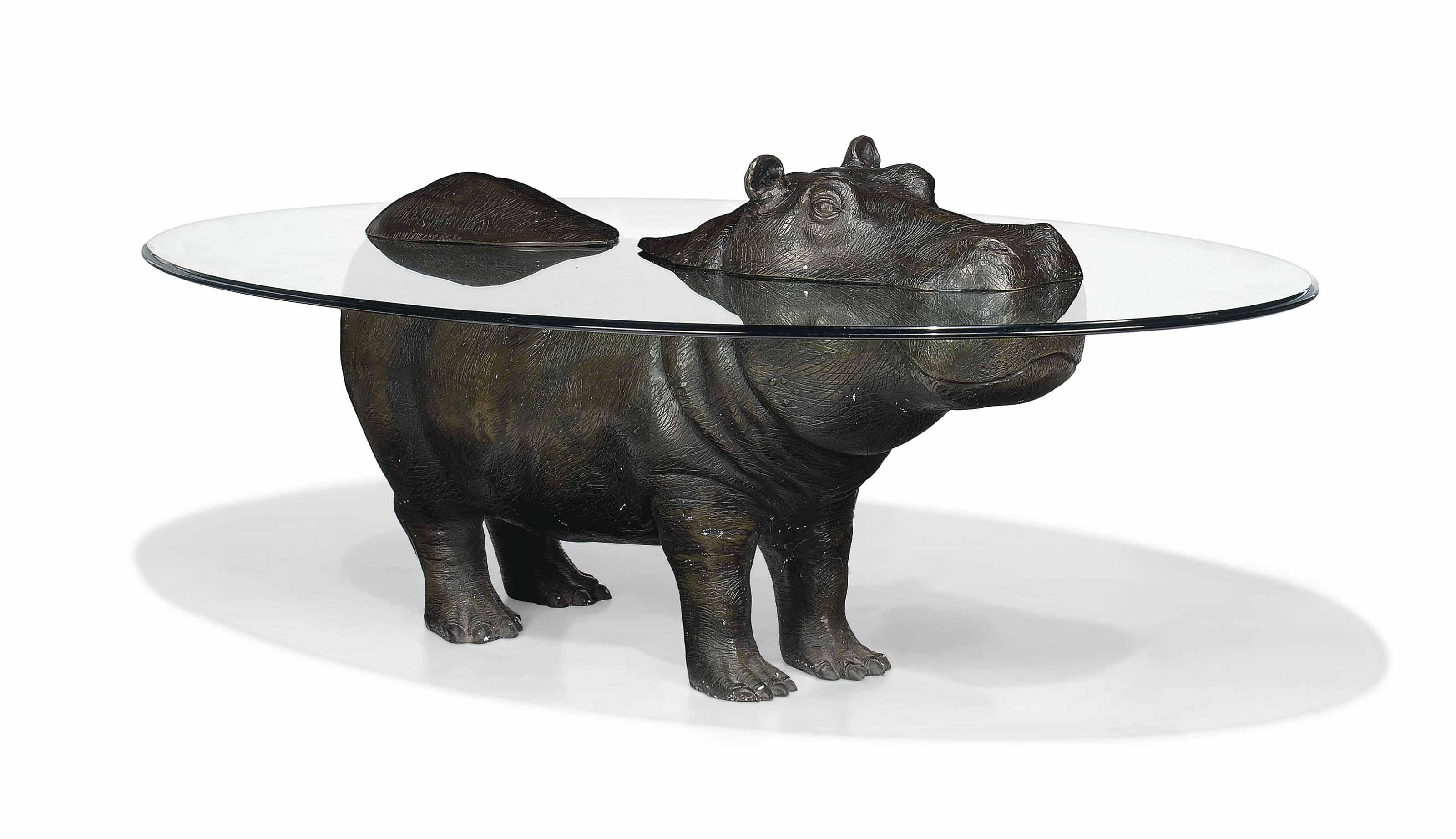 Mark stoddart hippopotamus occasional table 1998 for Hippo table for sale