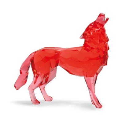 A FRENCH RED EPOXY RESIN MODEL
