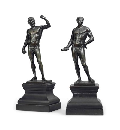 TWO ITALIAN BRONZE CLASSICAL F
