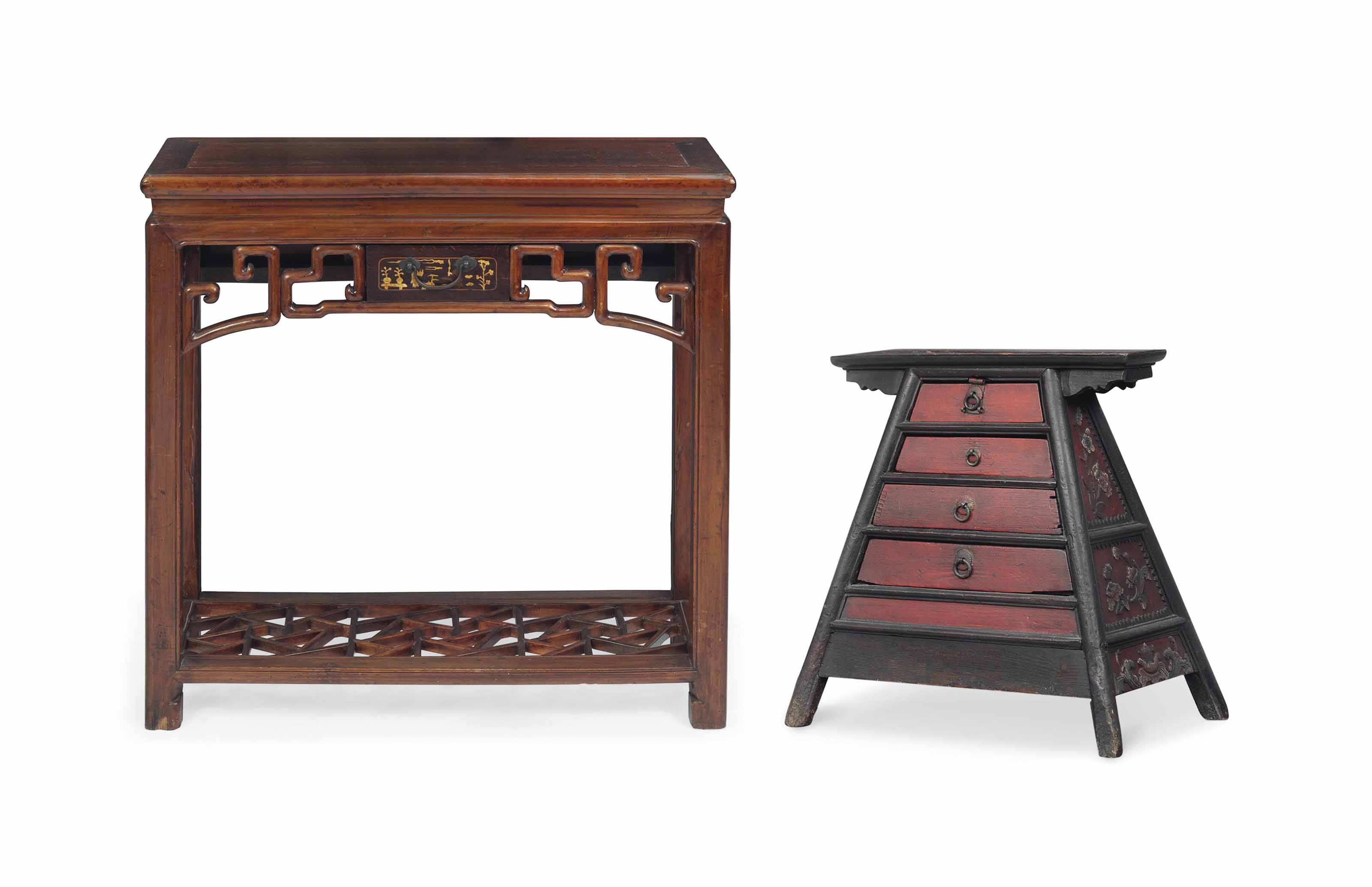 A CHINESE FRUITWOOD SIDE TABLE