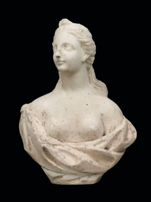 A FLEMISH WHITE MARBLE BUST OF