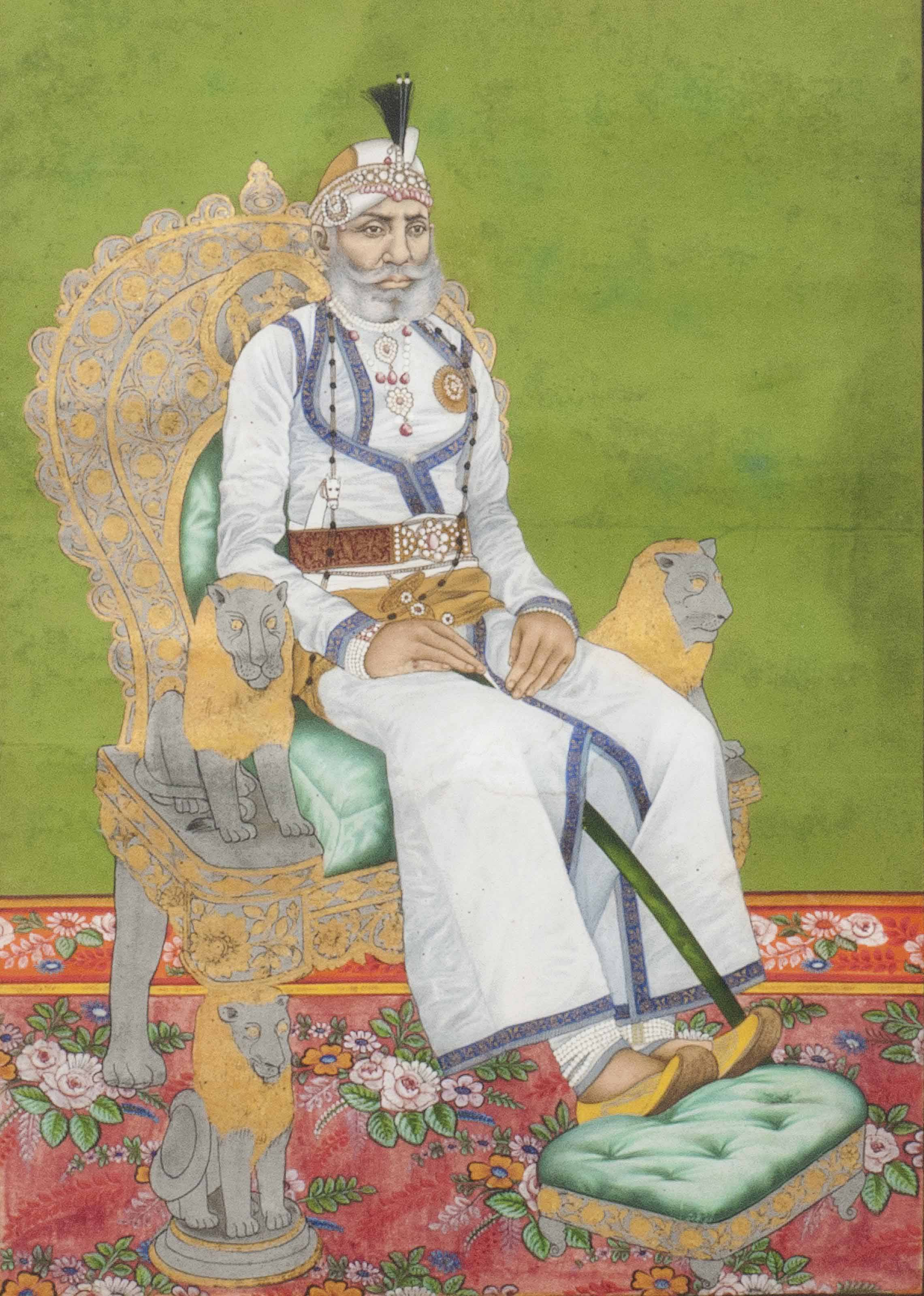 PORTRAIT OF A SEATED RULER