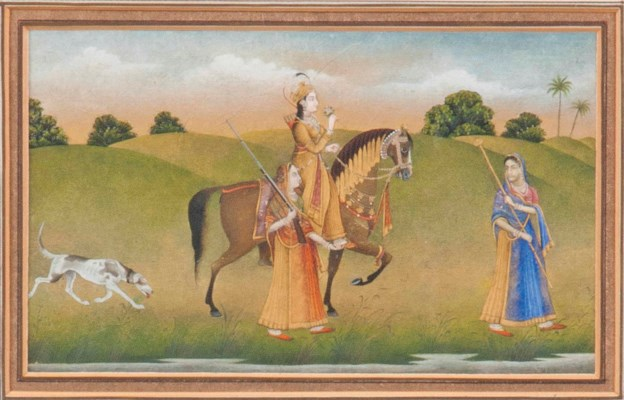 AN INDIAN PRINCESS OUT HUNTING