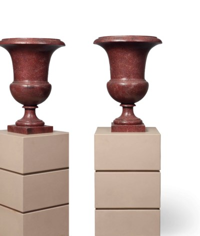A PAIR OF SIMULATED PORPHYRY C