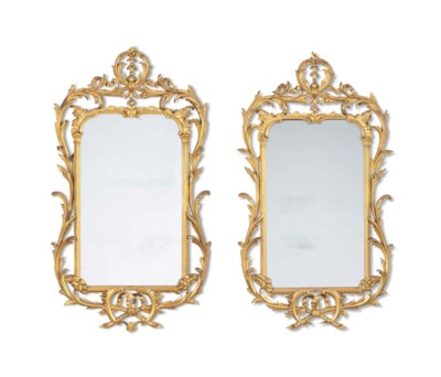 A PAIR OF EDWARDIAN GILTWOOD M