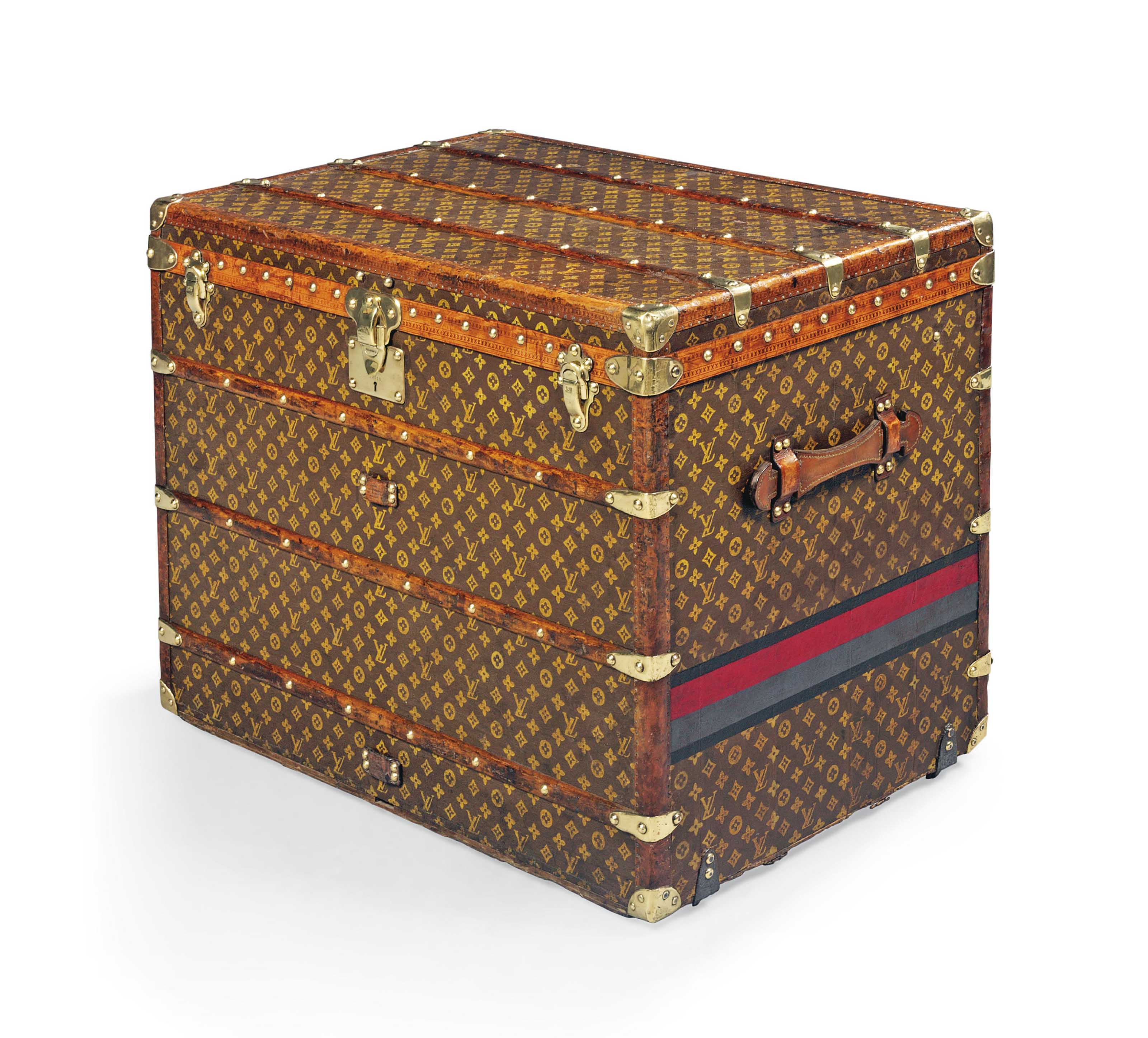 A TALL TRUNK IN MONOGRAM CANVAS