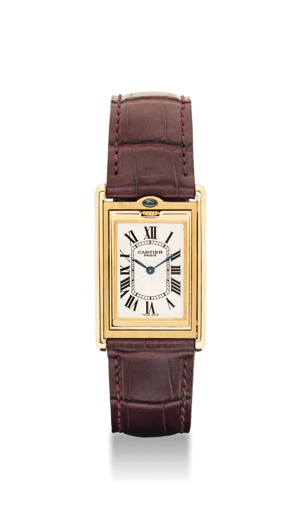 cff0ecd7 CARTIER. A FINE AND UNUSUAL 18K GOLD AND SAPPHIRE-SET RECTAN