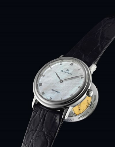 BLANCPAIN. A FINE AND UNIQUE P