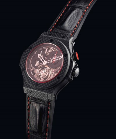 HUBLOT. A FINE AND VERY RARE C