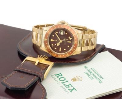 Rolex. A fine and rare 18K gol