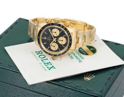 Rolex. An impressive 18K gold