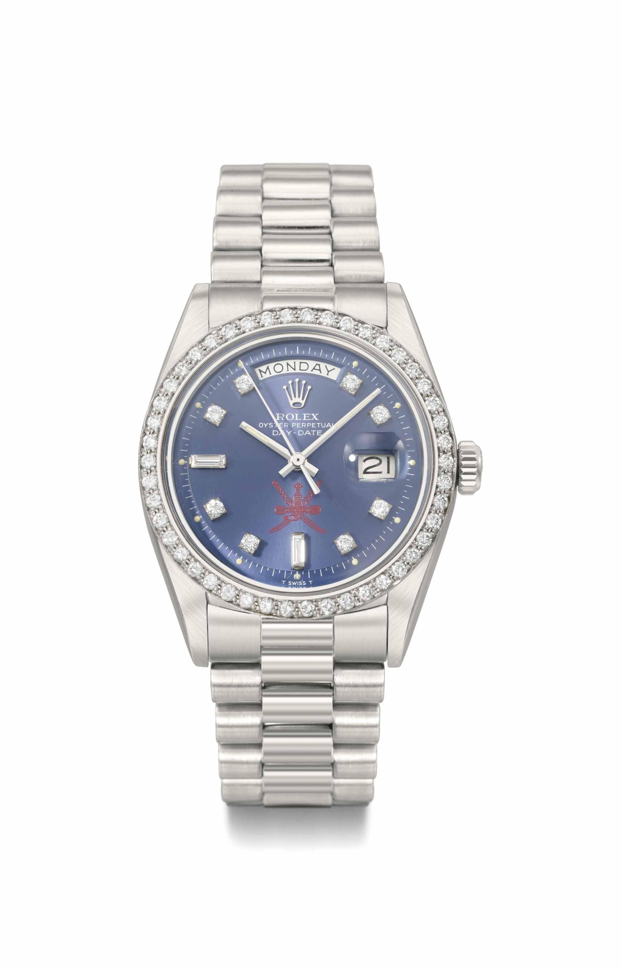 Rolex. A fine and very rare pl