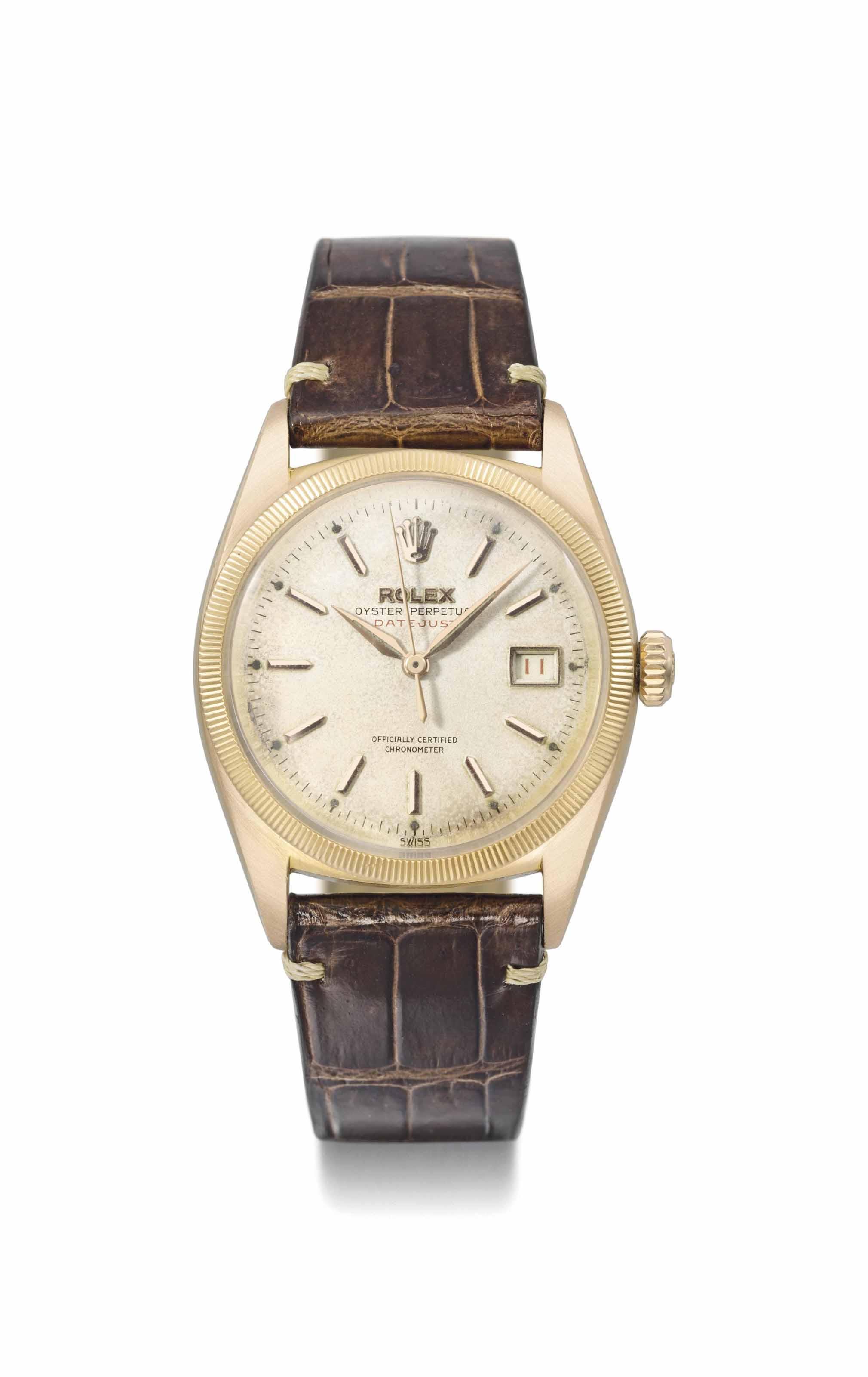 Rolex. A fine 18K pink gold au