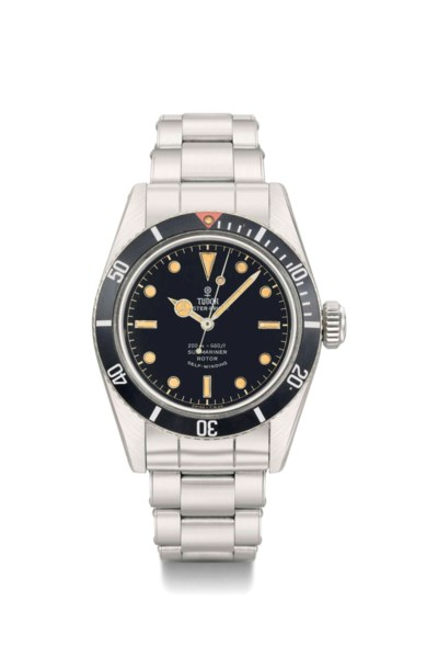 Tudor. A fine and rare stainle