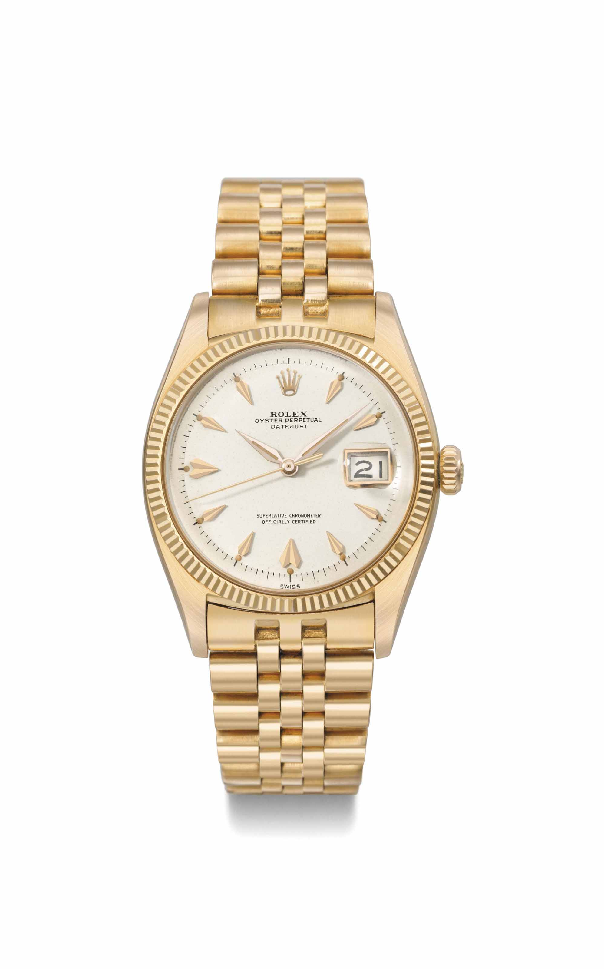 Rolex. An attractive 18K pink