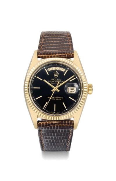 Rolex. A very rare 18K gold au