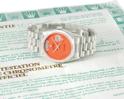 Rolex. An attractive platinum