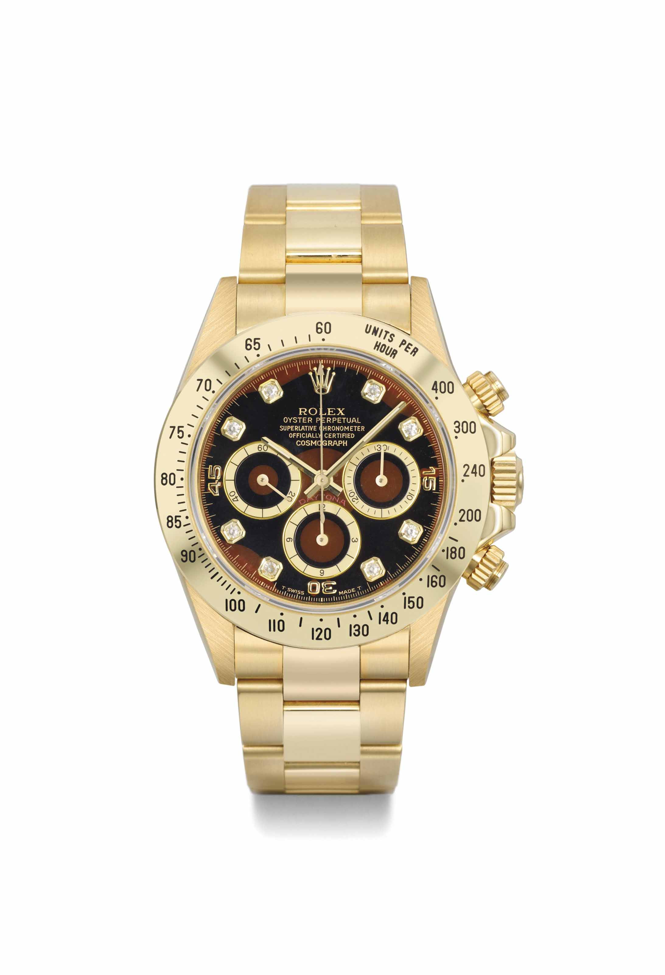 Rolex. A very rare 18K gold an