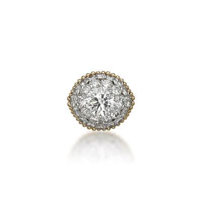 A RETRO DIAMOND COCKTAIL RING,