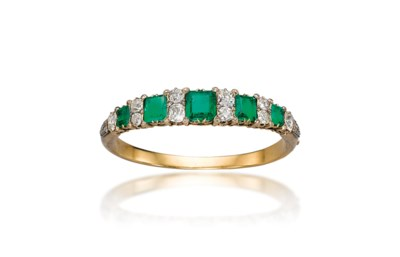 A 19TH CENTURY EMERALD AND DIA