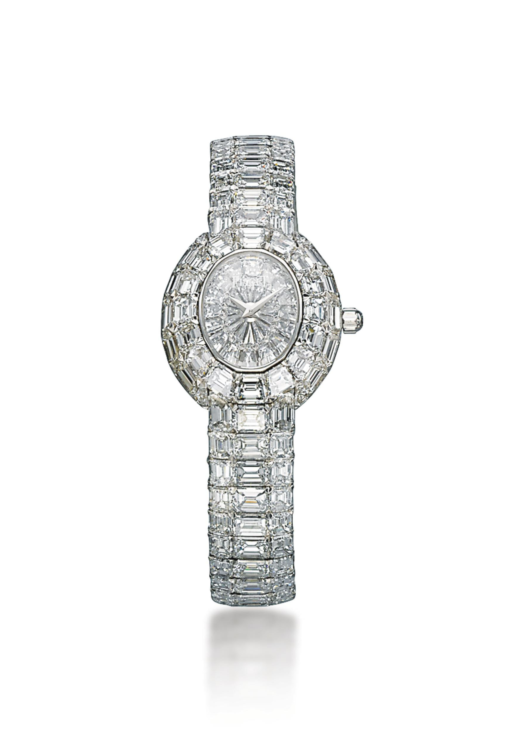 A LADY'S DIAMOND 'KANTHARA' BRACELET-WATCH, BY PIAGET
