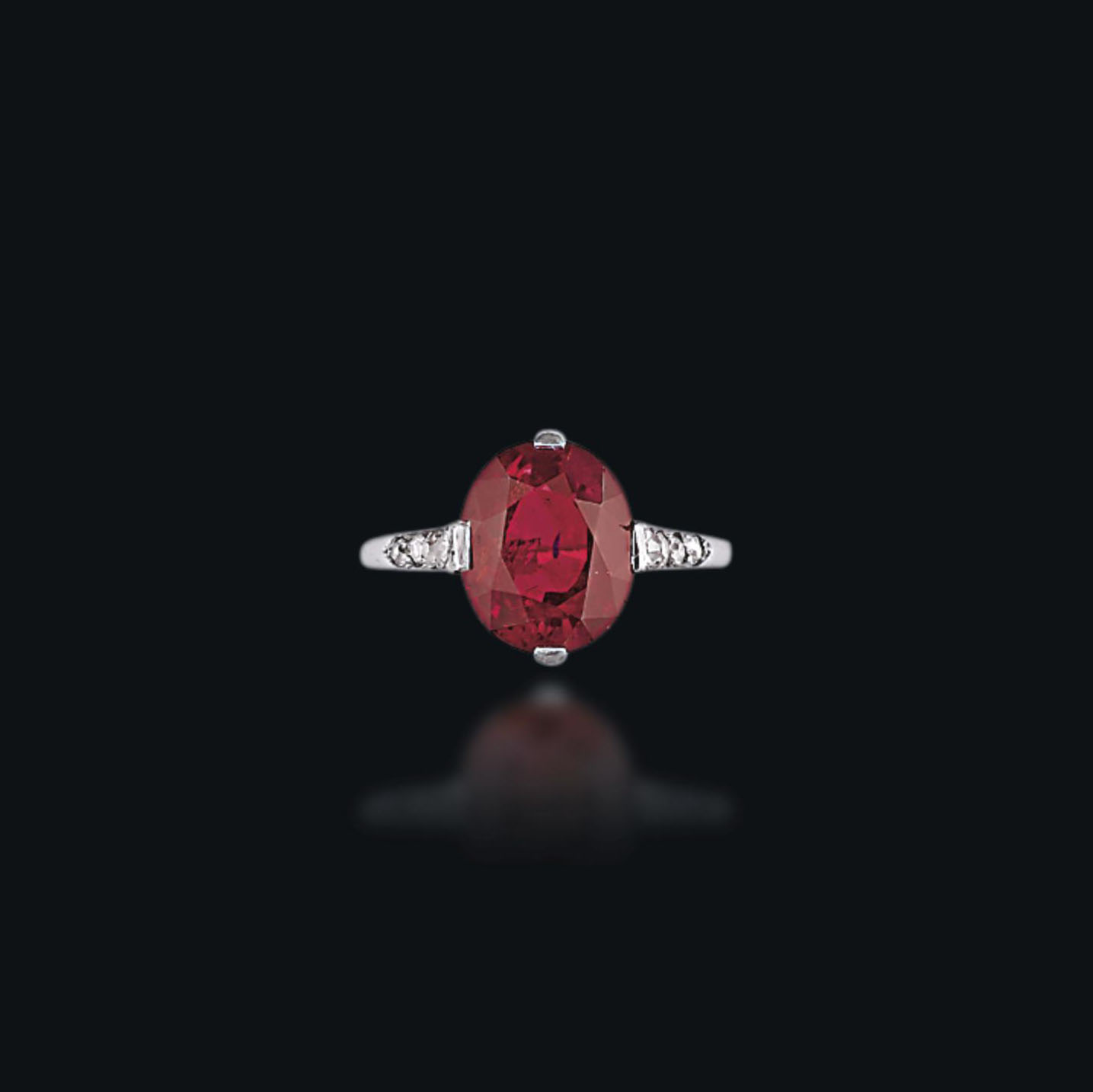 A BELLE ÉPOQUE RUBY AND DIAMOND RING, BY BOUCHERON