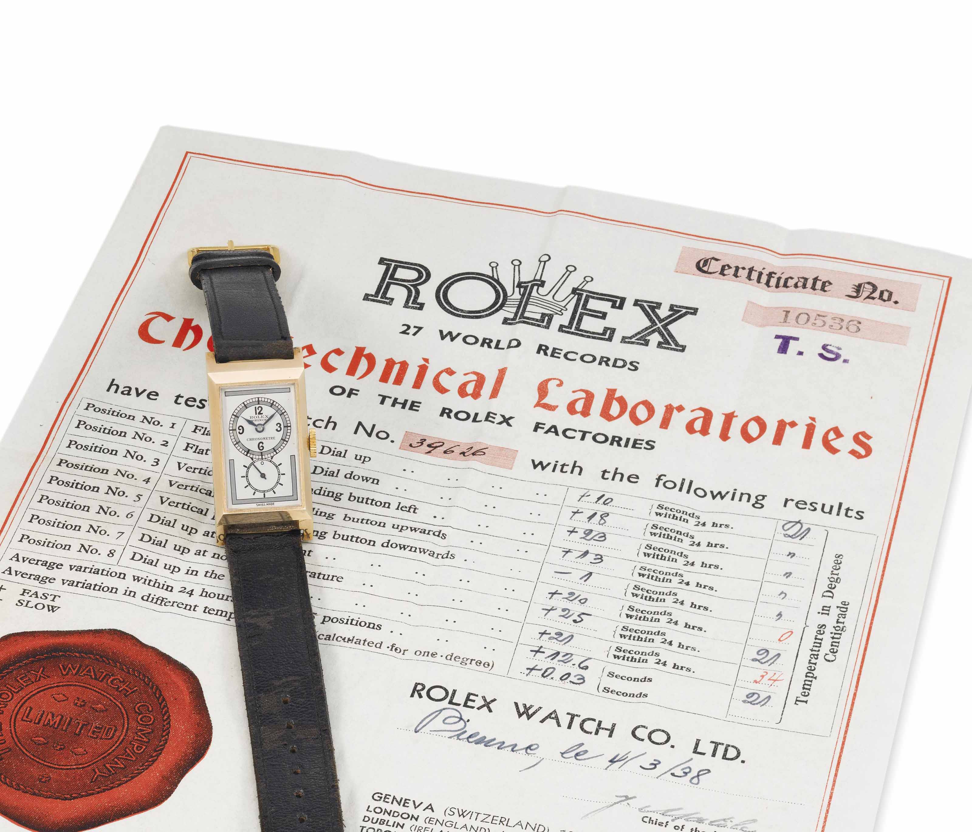 Rolex. A rare and extremely fi