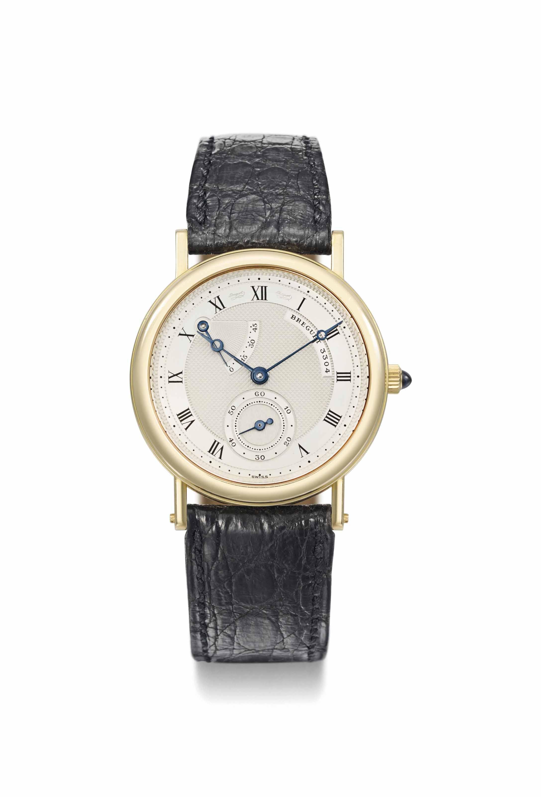Breguet. A fine 18K gold wrist