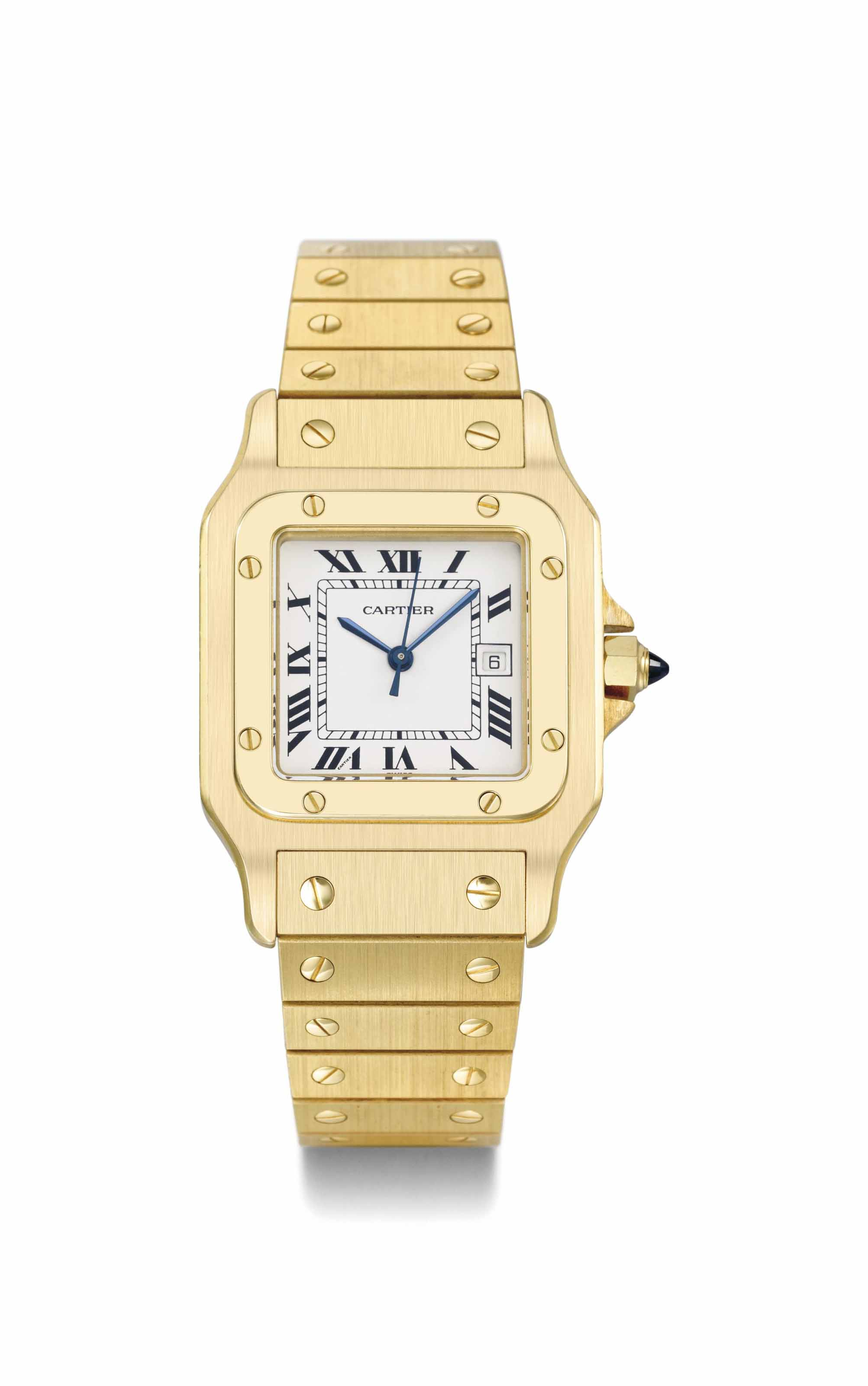 Cartier. A heavy 18K gold squa