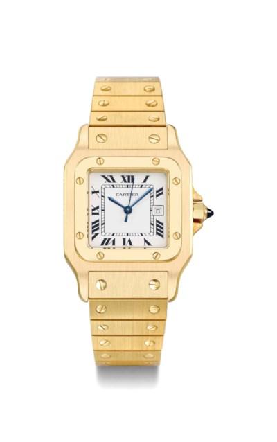 Cartier. A heavy 18K gold squa