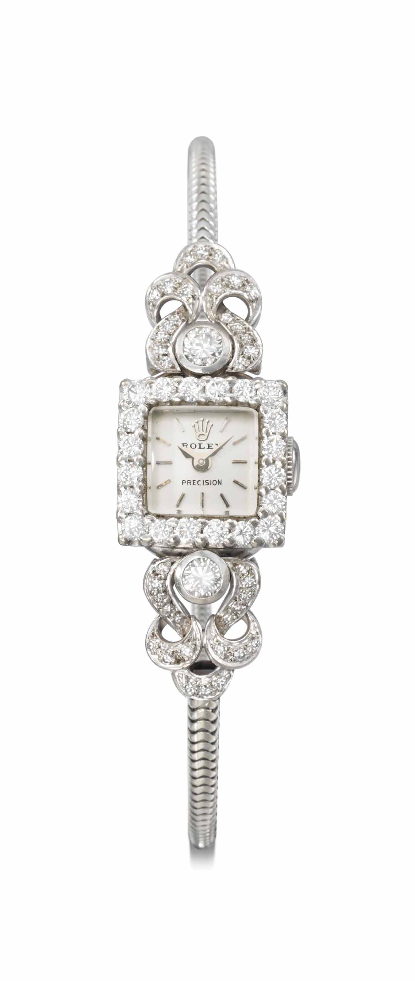 Rolex. A lady's fine 18K white