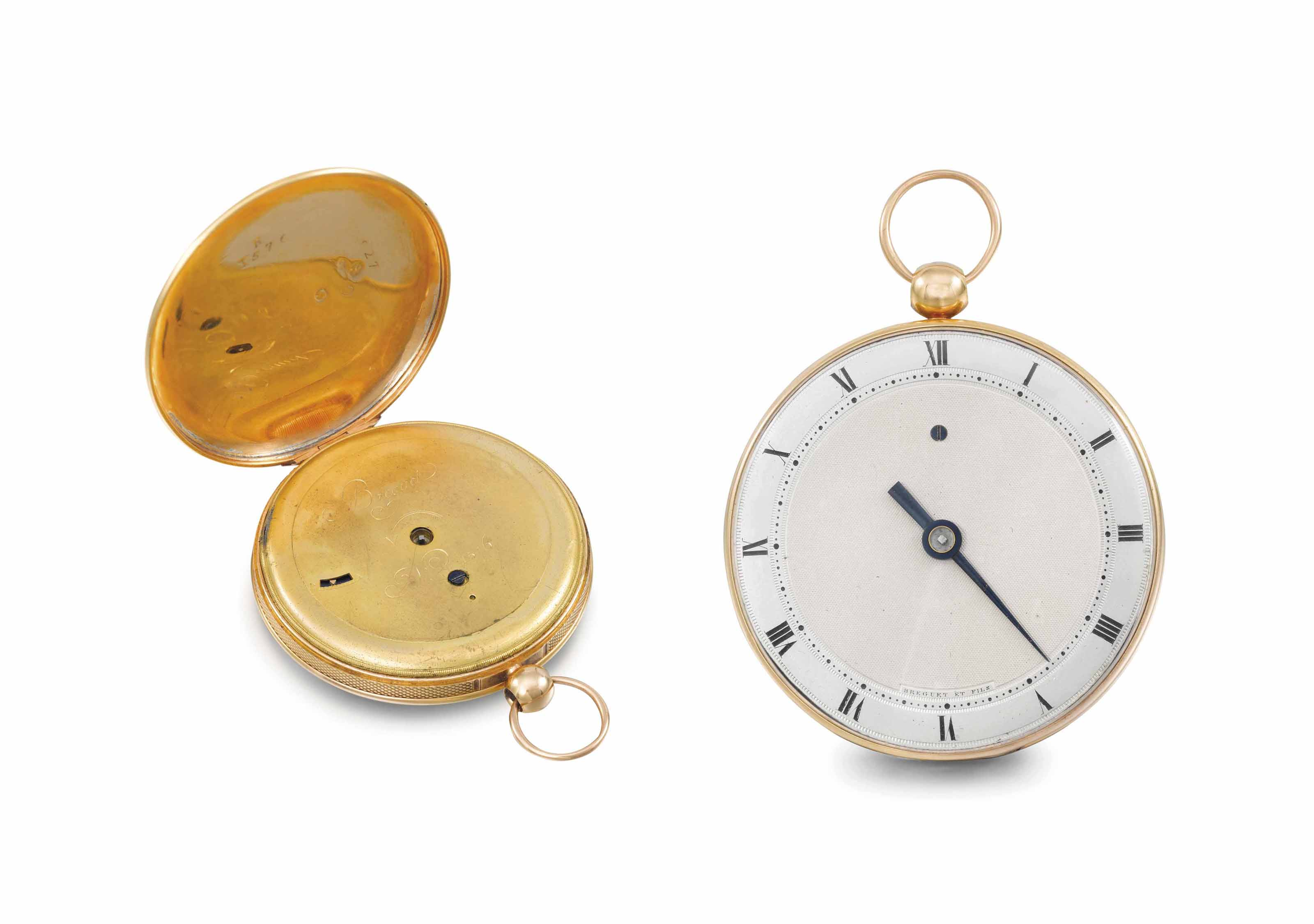 "Breguet. A fine and rare 18K gold ""Souscription"" watch"
