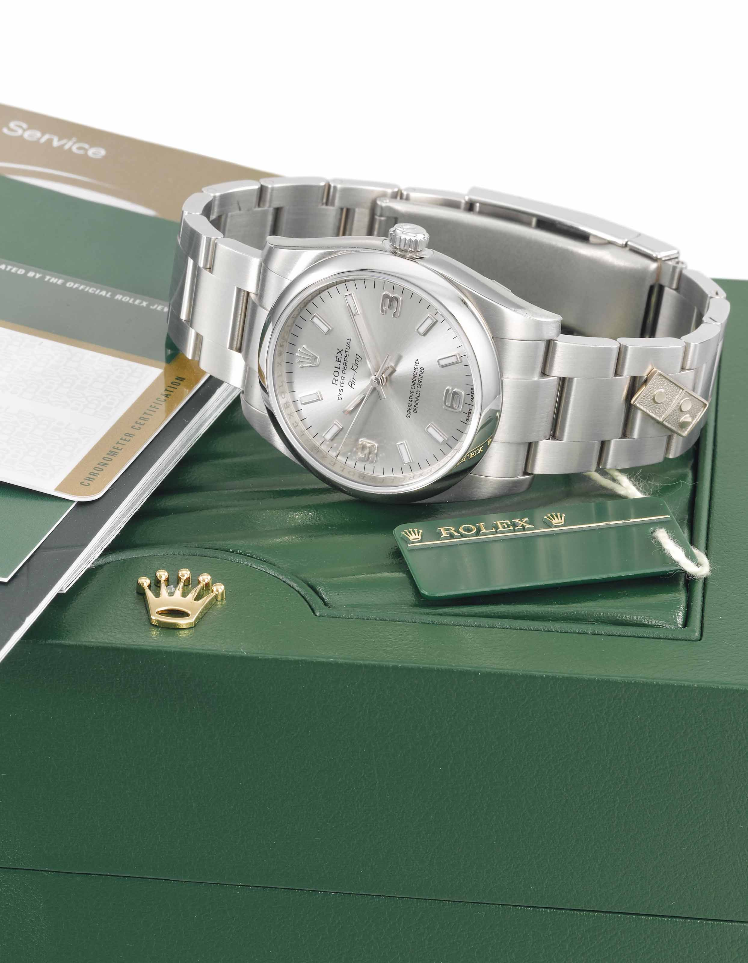 Rolex. A rare and unusual stai