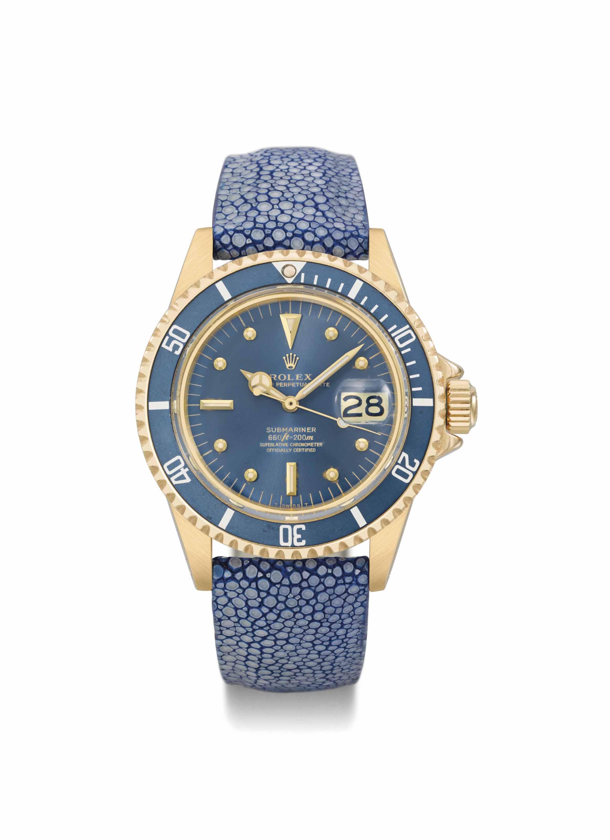 Rolex. An attractive 18K gold