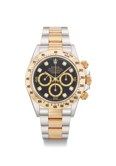 Rolex. A diamond-set stainless