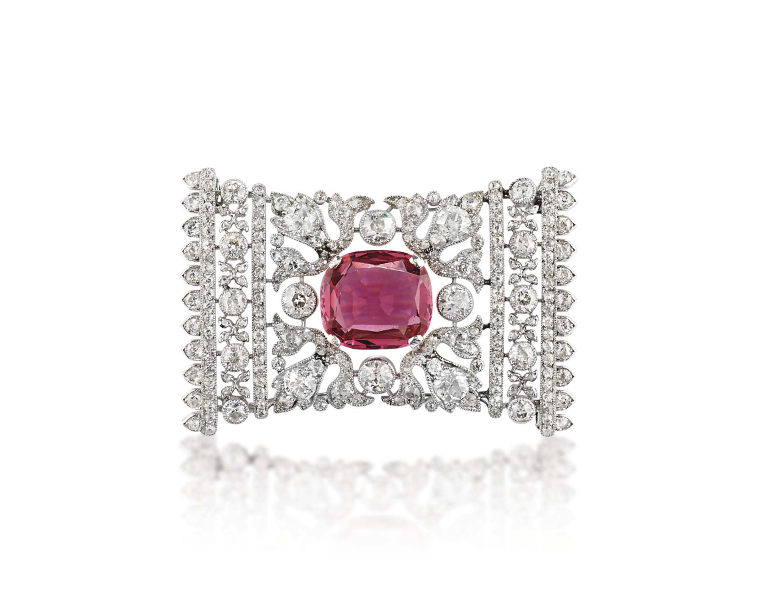 A BELLE EPOQUE SPINEL AND DIAM