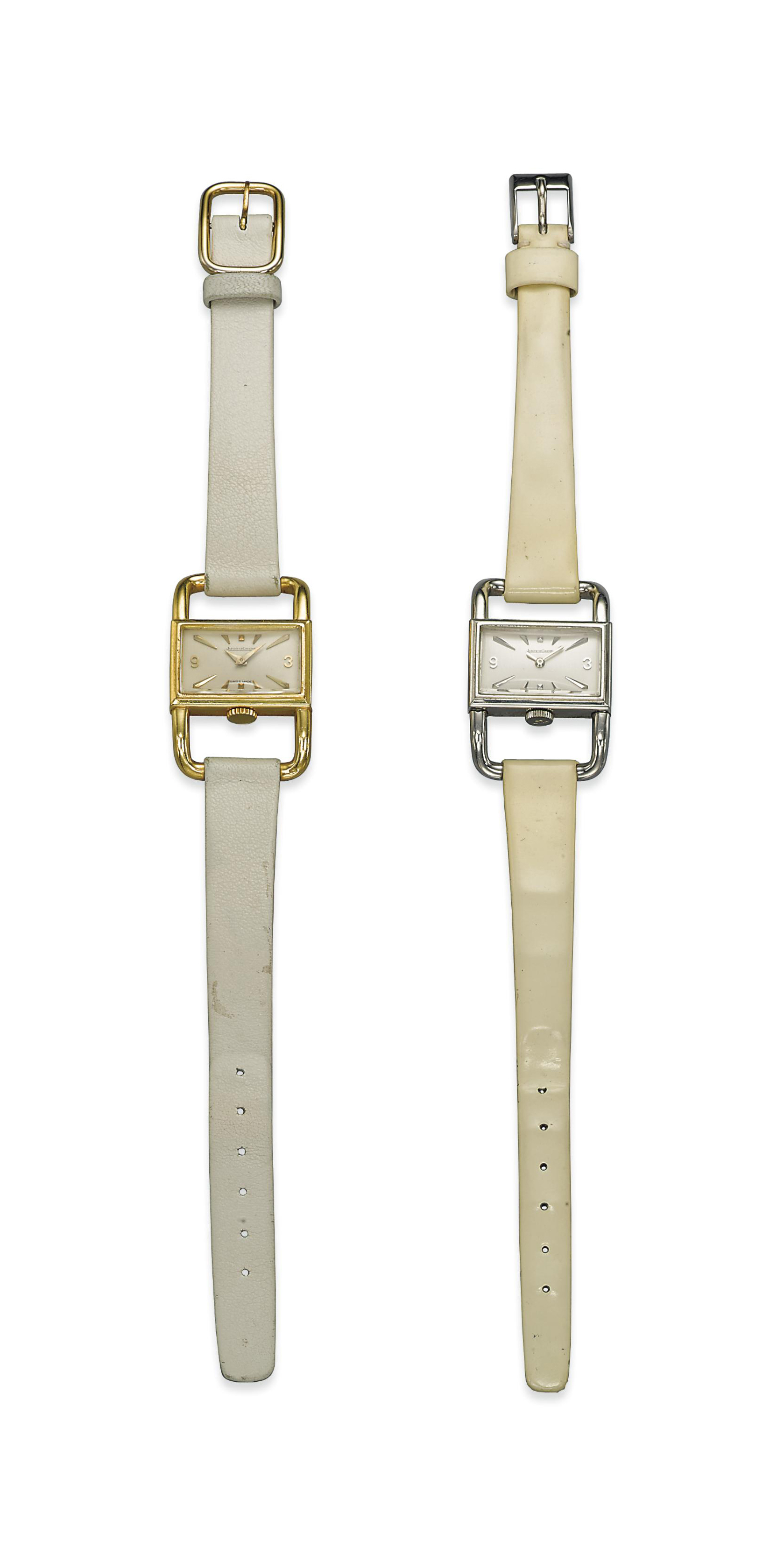 TWO 'ÉTRIER' WRISTWATCHES, BY