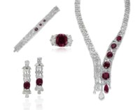 A SUITE OF RUBY AND DIAMOND JEWELLERY, BY JAHAN