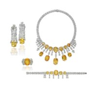 A SUITE OF COLOURED SAPPHIRE AND DIAMOND JEWELLERY, BY JAHAN
