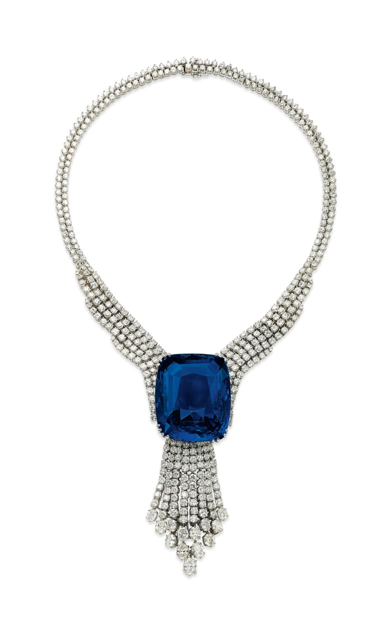 A spectacular sapphire and diamond necklace. Sold for CHF16,965,000 on 11 November 2014 at Christie's in Geneva