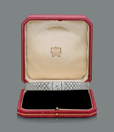 A BELLE EPOQUE DIAMOND CHOKER