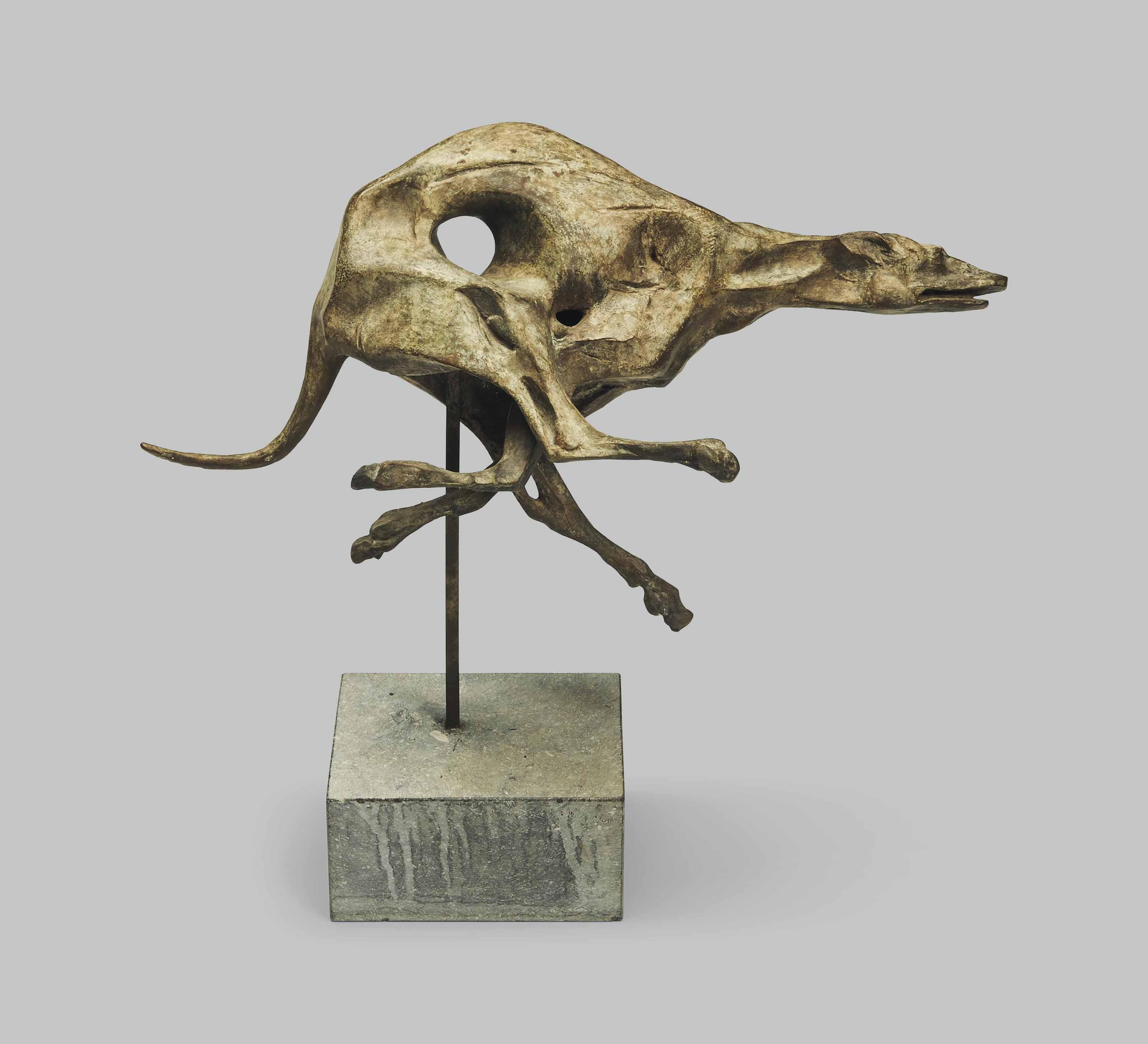 Windhund (rennend, seitlich nach links)