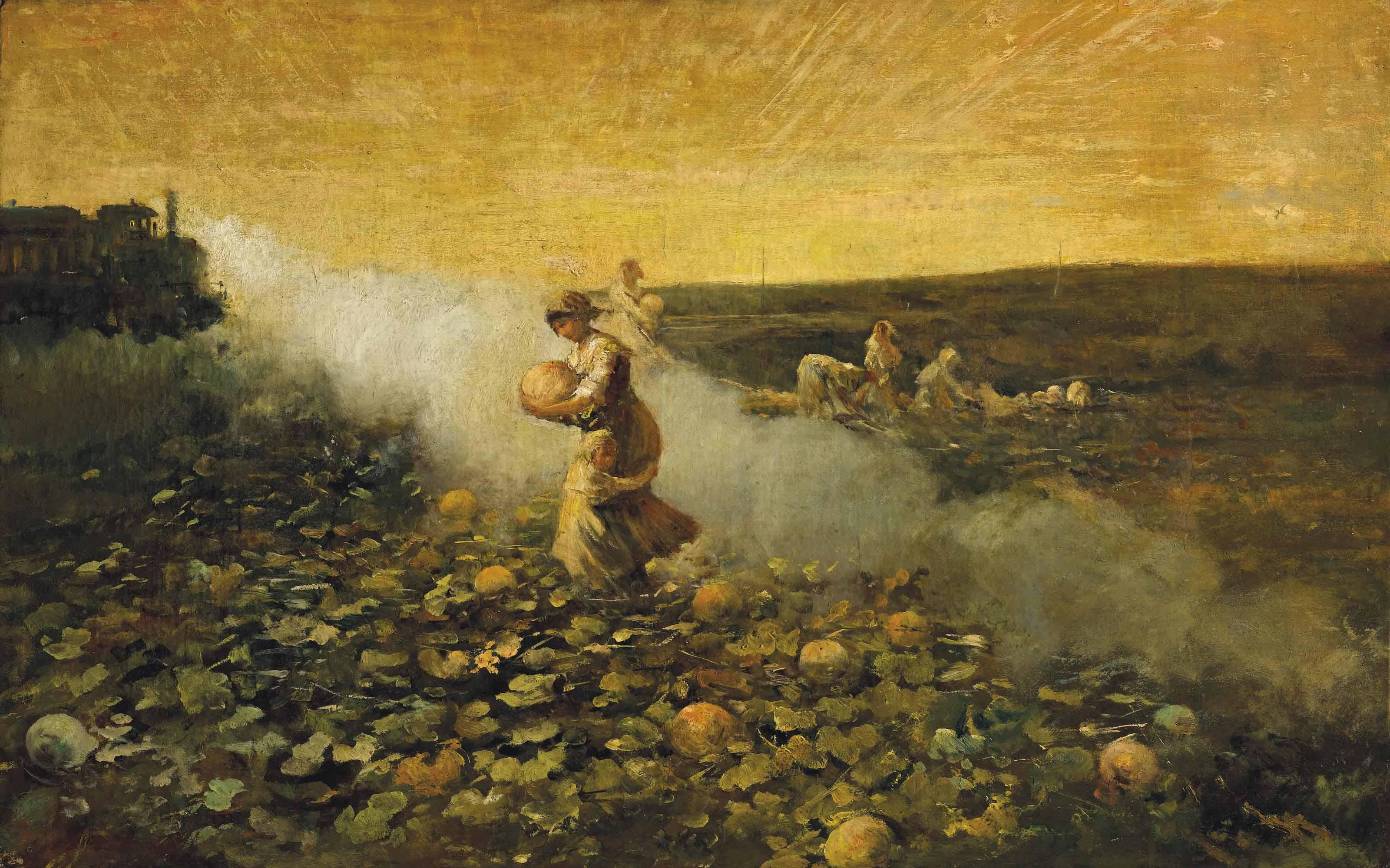 La raccolta delle zucche, ca. 1884